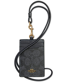 COACH Coated Canvas Signature ID Lanyard