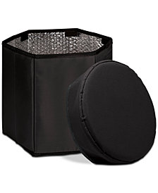 Oniva™ by Picnic Time Black Bongo Portable Cooler & Seat