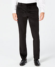Alfani Men's Classic-Fit Velvet Pants, Created for Macy's