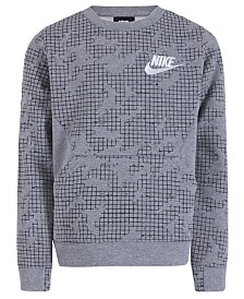Nike Toddler Boys Printed Fleece Crew-Neck Sweatshirt