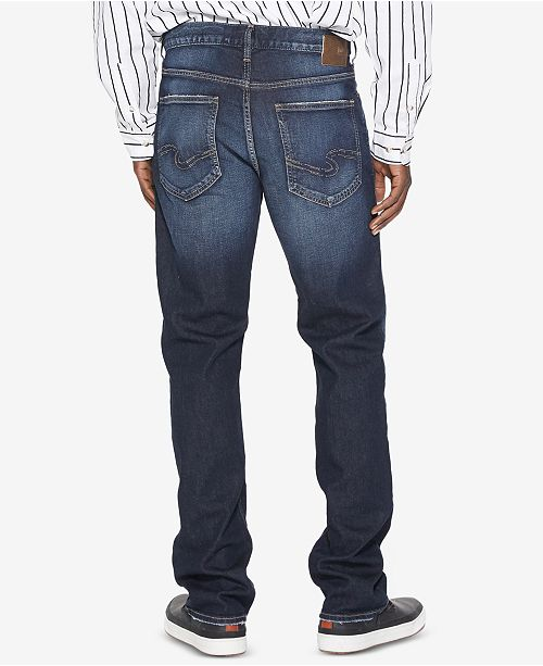 5ff828e7 Silver Jeans Co. Men's Grayson Easy-Straight Fit Stretch Jeans - Jeans - Men  - Macy's