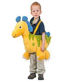 Yellow Ride-In Dino Toddler Boys Costume