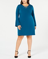 2f673935a3d MICHAEL Michael Kors Plus Size Lace-Up Shift Dress