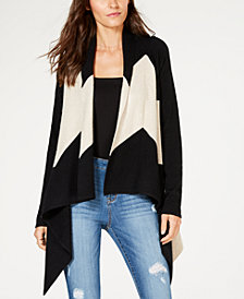 I.N.C. Asymmetrical Colorblocked Cardigan, Created for Macy's