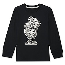 adidas Little Boys Foam Finger-Print Cotton T-Shirt