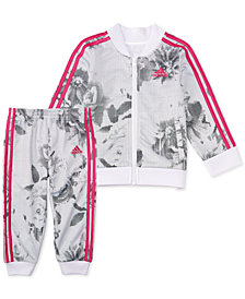 adidas Little Girls 2-Pc. Printed Bomber Jacket & Pants Set