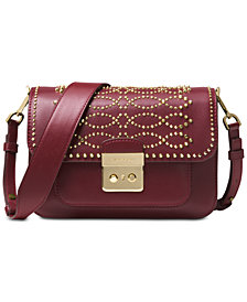 MICHAEL Michael Kors Sloan Editor Studded Leather Shoulder Bag