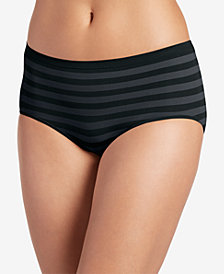 Jockey Matte & Shine Seamless Striped Modern Brief 2299