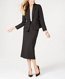 Le Suit Striped Skirt Suit