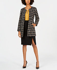 Nine West Topper Jacket, Keyhole Shell & Pencil Skirt