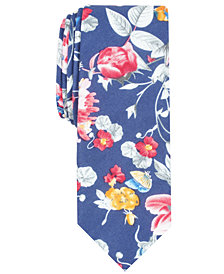 Penguin Men's Dinehort Floral Skinny Tie