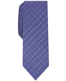Penguin Men's Thorstein Plaid Skinny Tie
