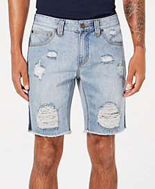 I.N.C. Men's Classic-Fit Ripped Denim Shorts, Created for Macy's