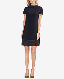 Vince Camuto Trapunto-Hem Mock-Neck Dress