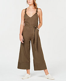Billabong Juniors' Bella Day Striped Wide-Leg Jumpsuit
