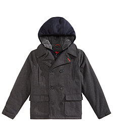 RM 1958 Toddler Boys Ari Layered-Look Hooded Peacoat