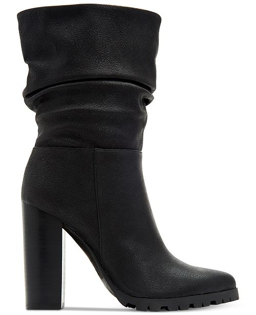 bd26784ee7cd Katy Perry Raina Slouch Boots Shoes Y S. Madam18 Black By Bamboo Over Knee  Thigh High Slouch Boots On Chunky Block Heel