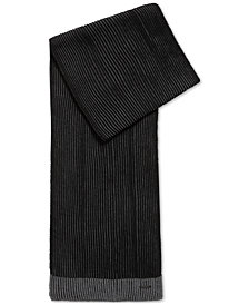 BOSS Men's Knit Virgin Wool Scarf