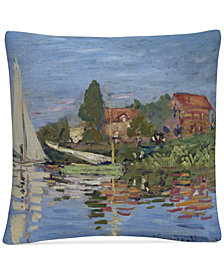 "Claude Monet Regatta at Argenteuil 16"" x 16"" Decorative Throw Pillow"