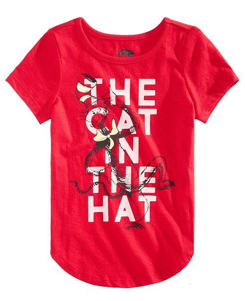 d0258d31cb0 Hybrid Little Girls Dr. Seuss The Cat In The Hat T-Shirt   Reviews ...