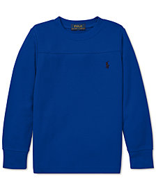 Polo Ralph Lauren Little Boys Waffle-Knit Long-Sleeve T-Shirt