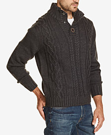 Weatherproof Vintage Men's Button Mock-Neck Sweater