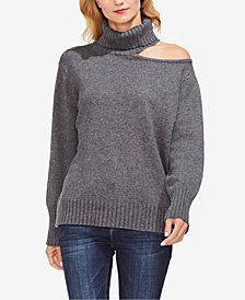 Vince Camuto One-Shoulder Turtleneck Sweater