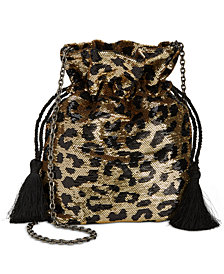 Betsey Johnson Leopard Sequined Pouch