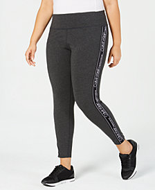 Calvin Klein Performance Plus Size High-Waist Logo Leggings