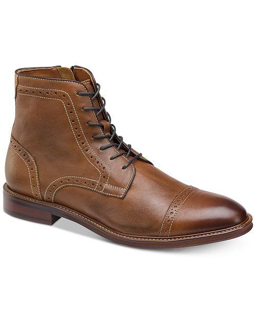Johnston & Murphy Men's Warner Cap-Toe Zip Boots
