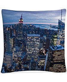 """Yakov Agani New York City, NY 16"""" x 16"""" Decorative Throw Pillow"""