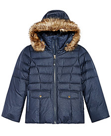 The North Face Gotham Hooded Down Jacket with Faux-Fur Trim, Little Girls  & Big Girls