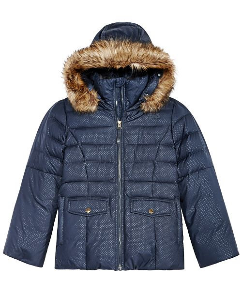 9718c9ab3 The North Face Gotham Hooded Down Jacket with Faux-Fur Trim