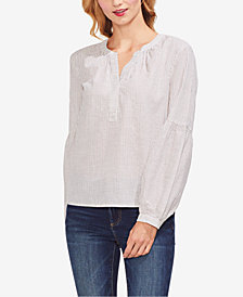 Vince Camuto Cotton Striped Henley Top