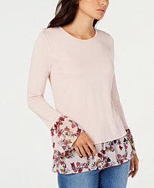 Vince Camuto Layered-Look Top