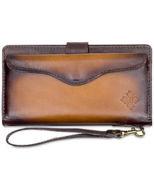 Patricia Nash Valentia Strained Leather Snap Wristlet