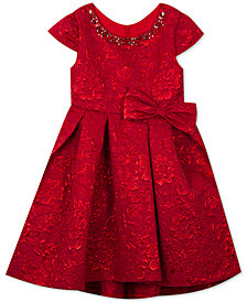 Rare Editions Little Girls Metallic Brocade Dress