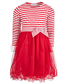 Bonnie Jean Little Girls Candy Cane Dress