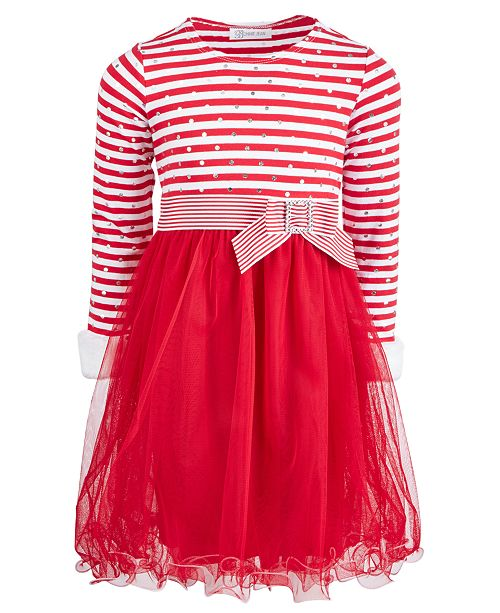 7e7da67206e Bonnie Jean Little Girls Candy Cane Dress & Reviews - Dresses ...