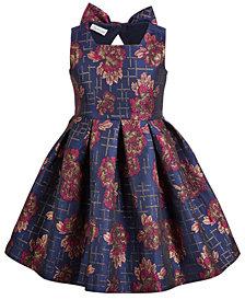Bonnie Jean Toddler Girls Floral Jacquard Party Dress
