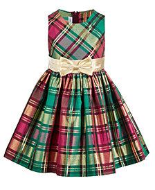 Bonnie Jean Toddler Girls Metallic Plaid Dress