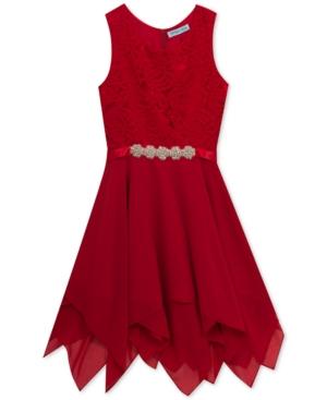 1920s Children Fashions: Girls, Boys, Baby Costumes Rare Editions Big Girls Lace Handkerchief-Hem Dress $41.99 AT vintagedancer.com