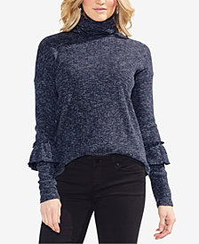 Vince Camuto Ruffle-Sleeve Turtleneck Top