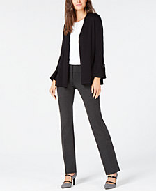 Alfani Tie-Sleeve Cardigan, Tank Top & Straight-Leg Pants, Created for Macy's