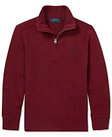 Polo Ralph Lauren Little Boys Mock Neck Half-Zip Pullover