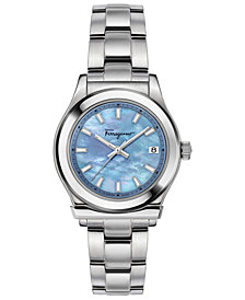 Ferragamo Women's Swiss 1898 Stainless Steel Bracelet Watch 33mm