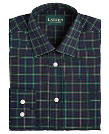 Lauren Ralph Lauren Big Boys Green Plaid Shirt