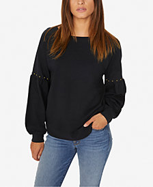 Sanctuary Nico Studded Cotton Sweatshirt