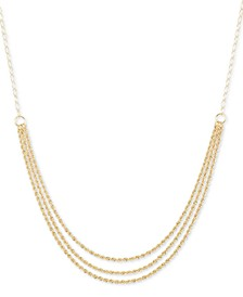 "18"" Triple-Strand Rope Chain Necklace (15mm) in 14k Gold"