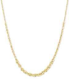"Graduated Abbracci Link 18"" Chain Necklace (2mm-5mm) in 14k Gold"
